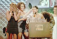 "<p>Twenty five years ago come September, Salt-N-Pepa -- from left,&nbsp;<span style=""font-size: 1em; background-color: transparent;"">Sandra ""Pepa"" Denton, Deidra ""Spinderella"" Roper and Cheryl ""Salt"" James -- collected MTV's Best Dance Video award for ""Whatta Man.""</span></p>(Bebeto Matthews/Associated Press)"