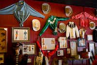 Western wear hangs on display at the Cowgirls of the West Emporium in Cheyenne, Wyo. The emporium and the next-door museum offer fun facts about pioneering Western women.(Autumn Parry/The Washington Post)