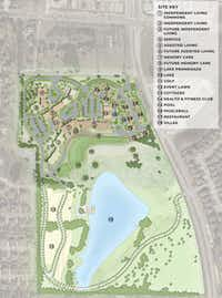 """<p><span style=""""font-size: 1em; background-color: transparent;"""">Touchmark's new Emerald Lake community in McKinney will have 390 homes.</span></p>(Touchmark)"""