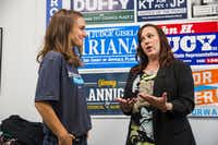 Democrat MJ Hegar, right, brought in about $1 million in the second quarter of this year for her bid to unseat longtime Texas Sen. John Cornyn.. (Amanda Voisard/Austin American-Statesman)
