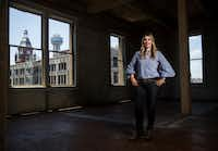 Tanya Ragan, owner and president of Wildcat Management, inside the Purse Building. The Business Journals recently named Ragan one of the top 100 real estate influencers in the country.(Ashley Landis/Staff Photographer)