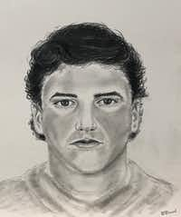Addison police wish to speak with the man depicted in this sketch about the July 1 slaying of Joan Mulcahy, 82, at the Communities of Bent Tree Apartments.(Addison Police Department)