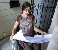 Angie Fox is still waiting for the city to fix her home.(Rose Baca/Staff Photographer)