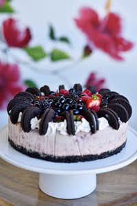 Berry Oreo Cheesecake from Val's Cheesecakes in Dallas(Ben Torres/Special Contributor)