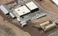 An aerial view of the U.S. Customs and Border Protection facility where attorneys reported that detained migrant children had been held in disturbing conditions on June 28, 2019 in Clint, Texas.(Mario Tama/Getty Images)