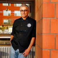 """<p>Chef Daniele Puleo is pictured here at the original CiboDivino Restaurant &amp; Marketplace in West Dallas. He moved from Italy to the United States in 1989. """"<span style=""""font-size: 1em; background-color: transparent;"""">I love this country so much,"""" he says, """"since I was a kid.""""</span></p>(Tom Fox/Staff Photographer)"""