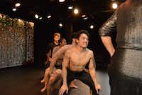 Christopher Lew (center) is one of the beauty pageant contestants in Very Good Dance Theatre's <i>The 1st Annual Gay Show</i> at the Festival of Independent Theatres.(Festival of Independent Theatres)