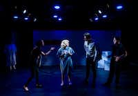 Marilyn Monroe (CC Weatherly) meets her ex-husbands and faces her demons in Lily &amp; Joan theater company's production of <i>Marilyn, Pursued by a Bear</i>.(Ashley Landis/Staff Photographer)