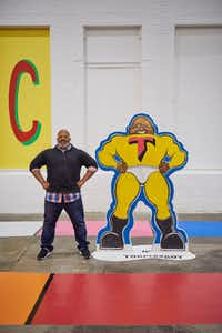 """Trenton Doyle Hancock created his Torpedo Boy superhero alter-ego when he was a child.(Tony Luong/<p><span style=""""font-size: 1em; background-color: transparent;"""">Massachusetts Museum of Contemporary Art</span></p>)"""