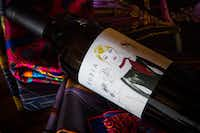 Rubia Wine Cellars'  new label shows an image depicting Margaret Valenzuela or Rubia, meaning  blonde  in Spanish, with a scarf denoting the type of wine. .(Suzanne Becker Bronk)