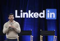 """In this 2014 file photo, LinkedIn CEO Jeff Weiner speaks during the company's second annual """"Bring In Your Parents Day,"""" at LinkedIn headquarters in Mountain View, Calif.(Marcio Jose Sanchez/The Associated Press)"""