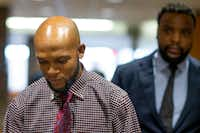Lyndo Jones left the courtroom after testifying Monday.(Shaban Athuman/Staff Photographer)