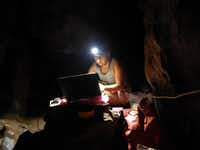 Becca Peixotto works in the Rising Star Cave system.(Courtesy of Becca Peixotto)