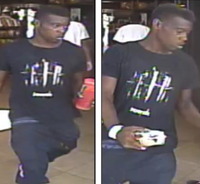 A still image from surveillance video shows a suspect in connection with a shooting at a Red Bird convenience store.(Dallas Police Department)
