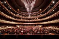 The chandelier at the Winspear Opera House is getting new music for its ascent into the ceiling.(Carter Rose/AT&T Performing Arts Center)