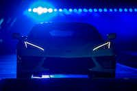 The new mid-engine 2020 Corvette Stingray is seen at the Next Generation Corvette Reveal event in Irvine, California on July 18, 2019. (Photo by DAVID MCNEW / AFP)DAVID MCNEW/AFP/Getty Images(DAVID MCNEW/AFP/Getty Images)