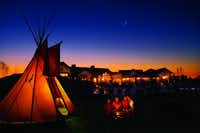 Pronghorn Resort focuses on wellness and restoration, including music meditation in a tepee.(Pronghorn Resort/Courtesy)