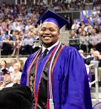 Kevin Day graduating from TCU in May 2019.(Eddie Airheart)