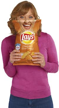 Paige Chenault of the Birthday Party Project is featured on Lay's potato chip bags.(Frito-Lay)