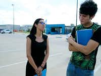Francisco Galicia, 18, with attorney Claudia Galan, was release from the South Texas Detention Facility in Pearsall on Tuesday.(Kin Man Hui/San Antonio Express-News)