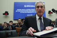 Former Special Counsel Robert Mueller waits to testify before the House Intelligence Committee about his report on Russian interference in the 2016 presidential election in the Rayburn House Office Building July 24, 2019 in Washington, DC. Mueller testified earlier in the day before the House Judiciary Committee in back-to-back hearings on Capitol Hill.(Alex Wong/Getty Images)