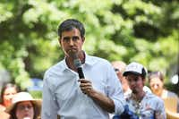 Democratic presidential candidate, former U.S. Rep. Beto O'Rourke, attended the Manchester Democrats' annual Potluck Picnic at Oak Park in Manchester, N.H., on July 13, 2019.(Cheryl Senter/The Associated Press)