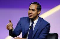 Julian Castro, Democratic presidential candidate and former secretary of Housing and Urban Development, speaks during a candidates forum at the 110th NAACP national convention on July 24, 2019, in Detroit.(Carlos Osorio/The Associated Press)