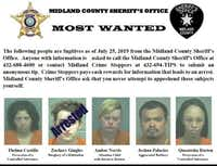 Midland County's five most-wanted fugitives.<br>(Midland County Sheriff's Office<br>)