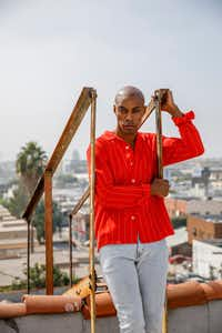 Author Casey Gerald stands for a portrait on Friday, September 28, 2018 in Los Angeles. Gerald, who grew up in Oak Cliff, played football at Yale, before receiving an MBA at Harvard(Patrick T. Fallon/Special contributor)