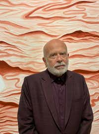 Artist Francesco Clemente photographed at the opening of his exhibition 'Watchtowers, Keys, Threads, Gates' at Dallas Contemporary(Nan Coulter/Special Contributor)