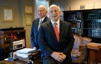 Stephen and Andrew Stasio are shown in their downtown law office in Fort Worth on Tuesday, July 30, 2019. Their father, Andy Stasio, opened the first Shakey's Pizza Parlor in DFW in the 1960s.(Lawrence Jenkins/Special Contributor)