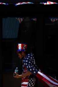 """Terrence Xavier Reid-Sumter attends the city of McKinney's """"Red, White and BOOM!"""" celebration in the historic downtown of McKinney on July 4, 2019.(Lynda M. Gonzalez/Staff Photographer)"""