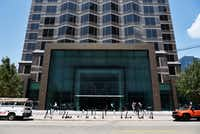 The 2-story framed entry to Trammell Crow Center's main entrance.(Ben Torres/Special Contributor)