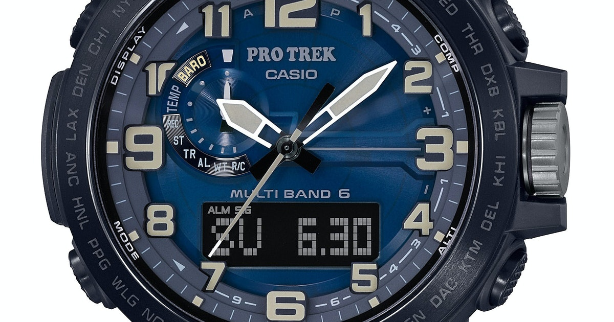 Casio Pro Trek watch is tough and feature-packed...