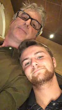 Austin Lieber, 22, graduated from University of Arkansas with a degree in business. Here, he's with his dad, The Dallas Morning News Watchdog, Dave Lieber, in a 2015 photo.(Staff Photo/Dave Lieber)