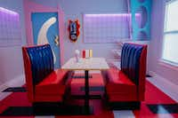 The dining room at The Slater, dubbed The Max, is designed to resemble the diner from Saved by the Bell.<br>(Nicholas Leitzinger)