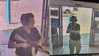 This CCTV image obtained by KTSM 9 news channel shows the gunman identified as Patrick Crusius, 21 years old, as he enters the Cielo Vista Walmart in El Paso on Aug. 3, 2019. The gunman, armed with an assault rifle, opened fire on shoppers at a packed Walmart store, reportedly killing at least 20 people in the latest mass shooting in the United States. (COURTESY OF KTSM 9/AFP/Getty Images)