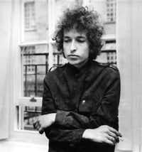 American folk pop singer Bob Dylan at a press conference in London.(Express Newspapers/Getty Images)