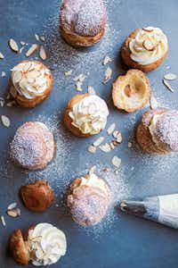 Daulat ki Chaat Cream Puffs from <i>Milk &amp; Cardamom</i> cookbook. Reprinted with permission from Milk &amp; Cardamom by Hetal Vasavada, Page Street Publishing Co. 2019.(Hetal Vasavada)