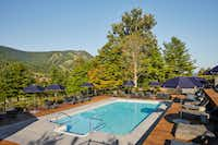 Guests at Scribner's Catskill Lodge can venture out into nature or just stay on the property to relax at the pool.(Read McKendree/Scribner's Catskill Lodge)