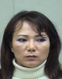 Helen Yu Kim was arrested on prostitution charges before, in April 2007(Dallas County Jail)
