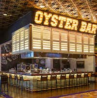 The Oyster Bar at Hard Rock Hotel is impossible to miss.(Michael Hiller/Special Contributor)