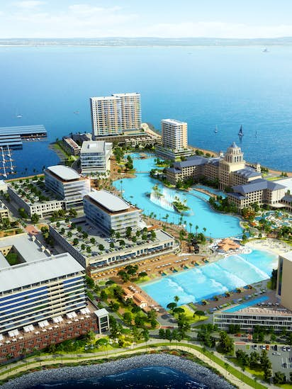 Surf's up: Wave pool, Crystal Lagoon among plans unveiled at town