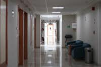 "<p><span style=""font-size: 1em; background-color: transparent;"">A hallway inside Galenia Hospital in Cancun.&nbsp;</span><span style=""font-size: 1em; background-color: transparent;"">(Rocco Saint-Mleux for Kaiser Health News)</span></p>"