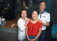 Miran Han Cho (left) and Gab Kyu Cho (right) are proud of daughter Jinny Cho, owner of Detour Doughnuts and Coffee.(Shaban Athuman/Staff Photographer)