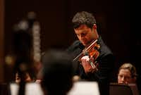 Violinist Nathan Olson will perform Vivaldi's <i>Four Seasons </i>with the Dallas Symphony Orchestra, as he did during this April 2017 performance.&nbsp;(Michael Ainsworth/Special Contributor)