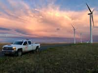 Texas accounts for a quarter of wind-powered energy in the United States.(Courtesy of Renewable Energy Systems Americas Inc.)
