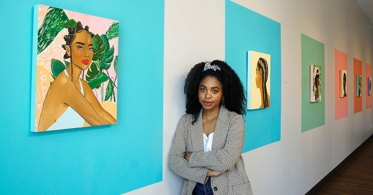 In 'Safe Place,' a Dallas artist places black women at the center of her Oak Cliff show...
