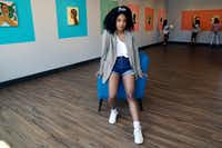 """Artist Ari Brielle's exhibition """"Safe Place"""" is being displayed at the Oak Cliff Cultural Center in Dallas. Her work explores the challenges of African American women in today's society.(Lawrence Jenkins/Special Contributor)"""
