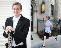 Andrew Sandwick, who won a postion in the clarinet section of the Dallas Symphony Orchestra, follows a strict schedule leading up to each audition.(Left:: by Sylvia Elzafon, DSO/Right: by John Sandwick)
